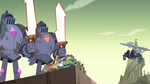 S4E36 Mina flies back toward Monster Temple