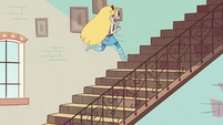 S2E11 Star Butterfly follows tadpoles up the stairs