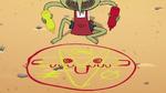 S2E13 Roy makes a Goblin Dog circle on the ground