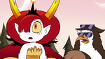 S3E37 Hekapoo and Talon look at Pony Head