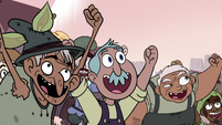 S3E4 Mewman villagers cheer for King River 2