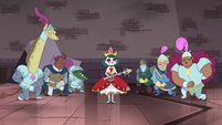 S4E24 Royal guards bowing around Eclipsa
