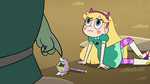 S2E28 Buff Frog points at Star's wand