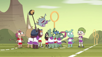 S4E16 Kid players cheering for the stickler