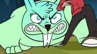 S1E4 Magic squirrel growling at Marco