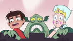 S3E7 Buff Frog struggles to carry Marco and Moon
