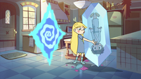 S2E34 Star Butterfly sets down Marco on the floor