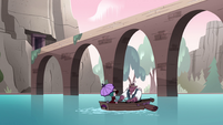 S4E23 Globgor and Eclipsa row through aqueduct