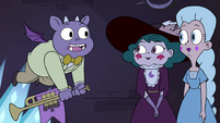 S4E3 Dinner demon 'can I blow the horn now?'