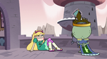 S3E7 Ludo drops Star Butterfly on the balcony