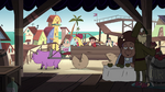 S4E2 Star, Marco, and River ride in the cart