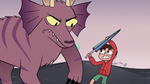 S3E19 Jorby swiping his claws at Marco Diaz