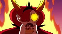 S3E22 Hekapoo burning with flames of rage