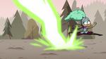 S3E37 Kelly dodging Meteora's lasers
