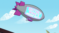 S1E10 Blimp advertising Brittney's party