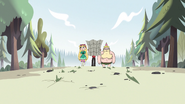 S2E10 Star, Marco, and King walk through woods