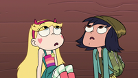 S2E16 Star and Janna look up at Miss Skullnick worried