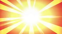 S4E13 Bright flash of orange light