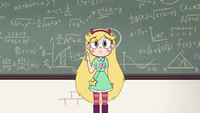 S2E32 Star Butterfly looking nervously at the class