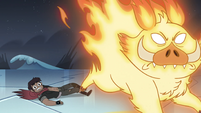 S4E5 Fire demon charges toward Star Butterfly