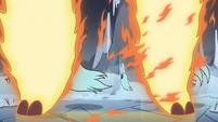 S4E5 Fire demon slams its hooves down