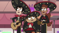 S3E25 Mariachi band coming out of hiding