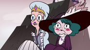 S3E36 Moon and Eclipsa hiding behind a rock