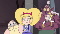 S4E24 Star, River, Globgor, and Meteora look at Rhombulus