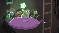 S4E30 Star and friends descend tunnel on Cloudy