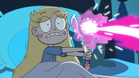 S3E22 Star Butterfly blasting magic at the shadow