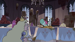 S3E33 Princess Arms notices Pony Head eating brunch