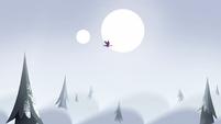 S2E2 Distance shot of flying eagle