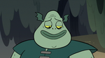 S2E20 Buff Frog smiling at his tadpole