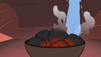 S3E27 Water pouring on hot coals