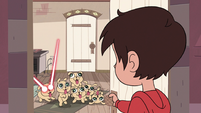 S3E14 Marco sees laser puppies inside the room