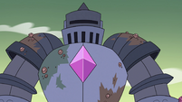 S4E32 Solarian warrior appears in New Monstertown