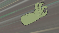 S2E36 Rasticore's arm flying toward Marco Diaz