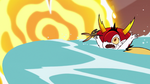 S3E22 Hekapoo getting overwhelmed by seawater