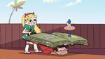S2E14 Star pulls Marco out from under the book