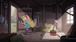 S4E32 Star Butterfly bolting out of the shed