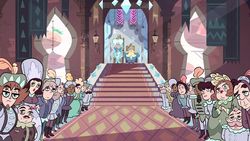 S1e1 crowd anticipating star's appearance