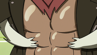 S3E22 Hekapoo's arms around Adult Marco's abs