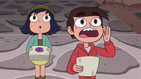S4E24 Marco shouting up at a monster