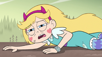 S4E33 Star Butterfly lying on the ground