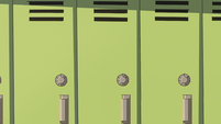 S2E38 Close-up on wall of lockers
