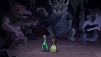 S3E24 Penelope and Slime in a room of statues
