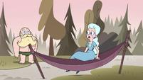 S4E15 Moon Butterfly sits down in her hammock
