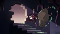 S3E24 Princess Spiderbite slipping down stairs