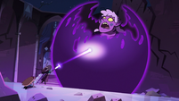 S3E38 Eclipsa trapping Meteora in a black sphere