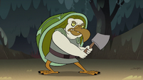 S2E12 Tortoise-bird monster wielding an axe